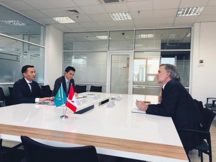 A meeting with the management of CERBA Canadian Business Association was held at the Kazakh Invest office