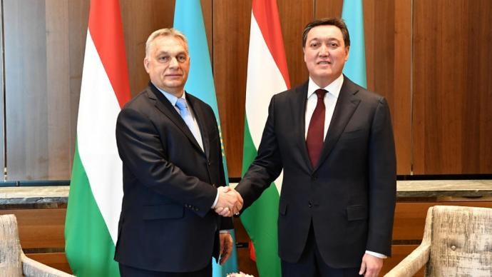 Prime ministers of Kazakhstan and Hungary Askar Mamin and Viktor Orban discuss prospects for increasing investment cooperation