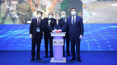 Prime Minister Askar Mamin takes part in opening ceremony of Hyundai car assembly plant